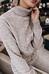 Женский вязаный костюм: свитер и штаны (2 цвета), фото 6