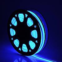 Світлодіодний гнучкий неон 220В 2835 120 LED Neon Flex IP65 Синій, фото 1