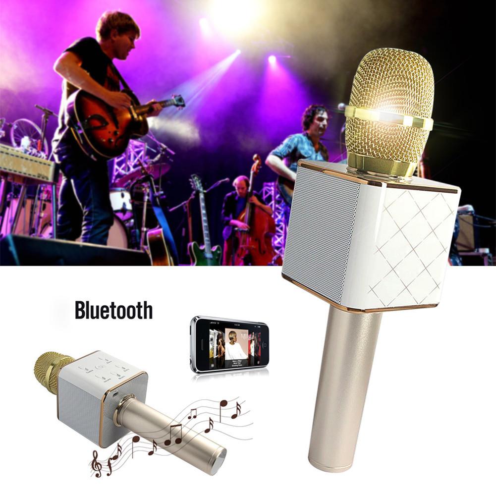 Беспроводной микрофон караоке Bluetooth Q9 MS USB + чехол
