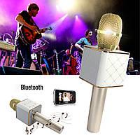 Беспроводной микрофон караоке Bluetooth Q9 MS USB + чехол, фото 1