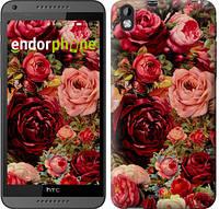 """Чехол на HTC Desire 816 Цветущие розы """"2701c-169-6129"""""""