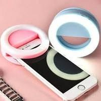 Selfie Ring Светодиодное кольцо для селфи RK-14 розовое