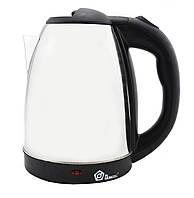 Дисковый электрический металлический чайник Domotec 5001  2 литра