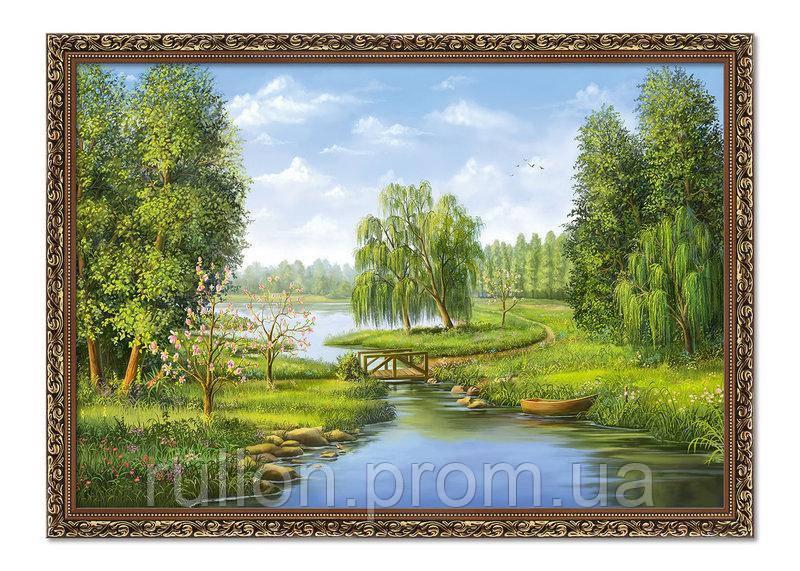 """Картина YS-Art BA017B """"Мост через реку"""" 50x70"""