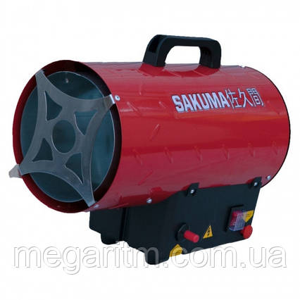 Газовая пушка SAKUMA SGA1401-15 (тепловая мощность 15кВт, 220В, сжиженный пропан-бутан) , фото 2