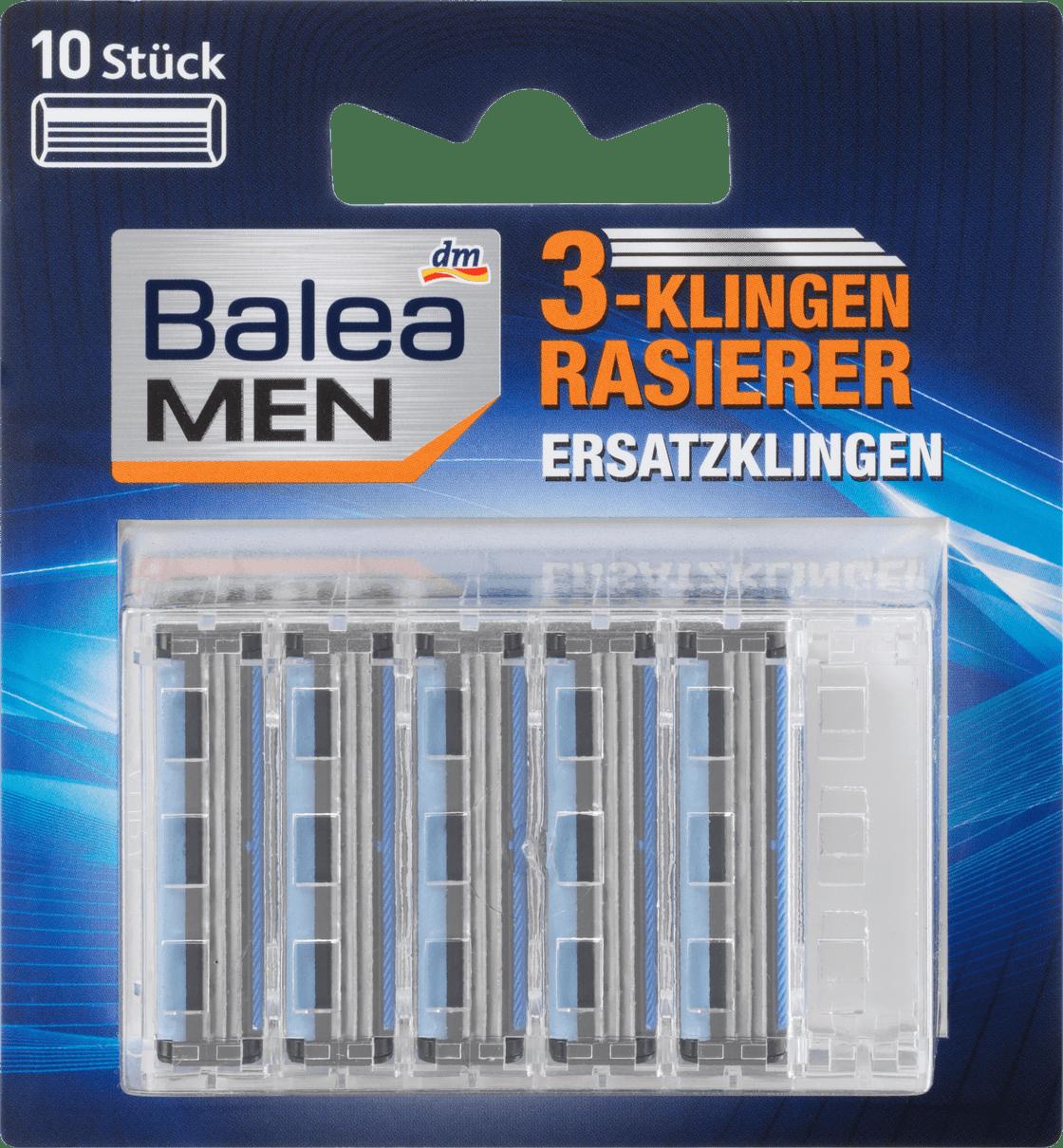 Сменные лезвия для станка Balea men 3-Klingen Rasierklingen, 10 шт.