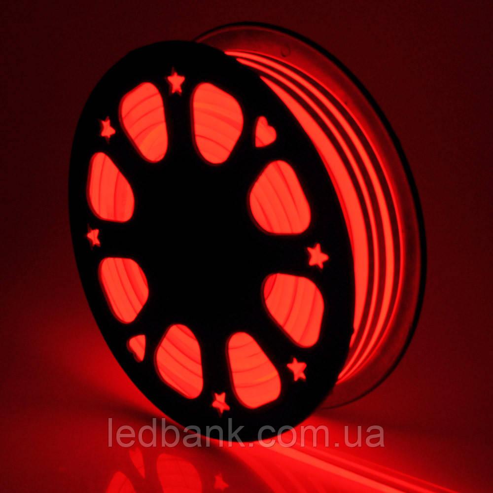 Светодиодный гибкий неон 220В 2835 120 LED Neon Flex IP65 Красный