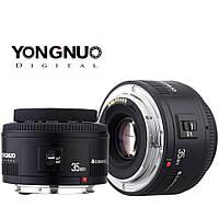 Объектив автофокусный Yongnuo YN 35 мм F 2.0 для Canon EOS с байонетом EF