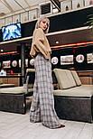 Женские теплые брюки-клешь в клетку (2 цвета), фото 3
