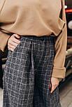 Женские теплые брюки-клешь в клетку (2 цвета), фото 2