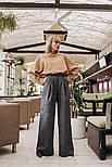 Женские теплые брюки-клешь в клетку (2 цвета), фото 4