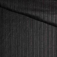 Фукра черная в полоску, ш.140 (11660.001)