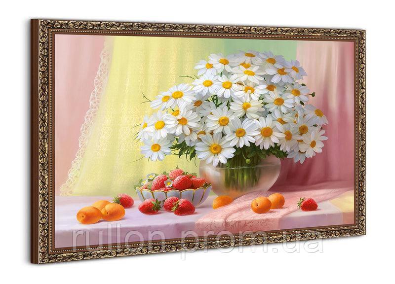 """Картина YS-Art BA075B """"Ромашки в вазе, клубника и персики"""" 50x70"""