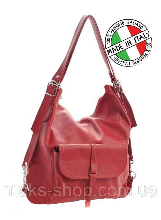 a9f6eb4bc926 Женская кожаная сумка-рюкзак Италия Cavaldi S0080 - Maks Shop- надежный и  перспективный интернет
