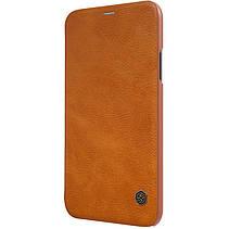 """Кожаный чехол (книжка) Nillkin Qin Series для Apple iPhone X (5.8"""") / XS (5.8""""), фото 3"""