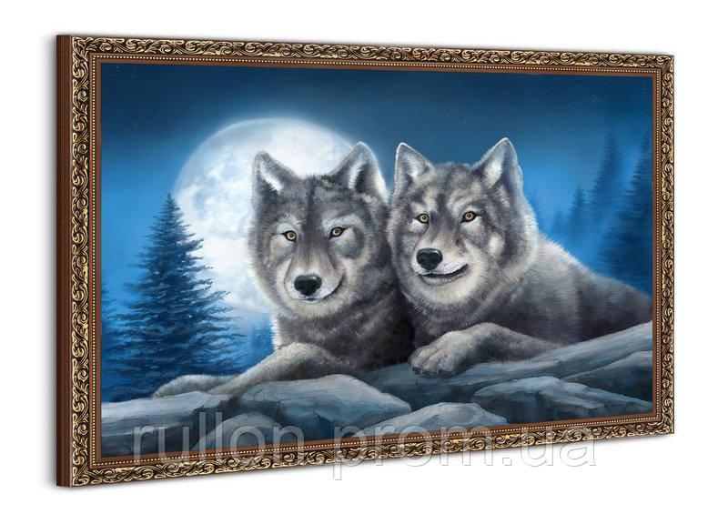 "Картина YS-Art BA429B ""Волки в сумерках"" 50x70"