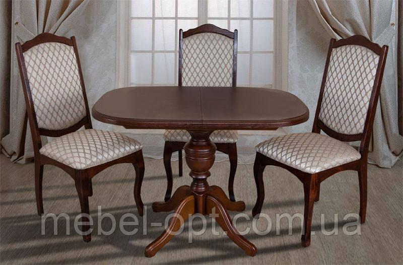 Деревянный обеденный стол Триумф, цвет светлый орех