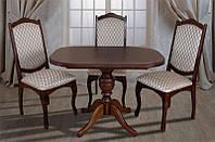 Деревянный обеденный стол Триумф, цвет светлый орех, фото 1