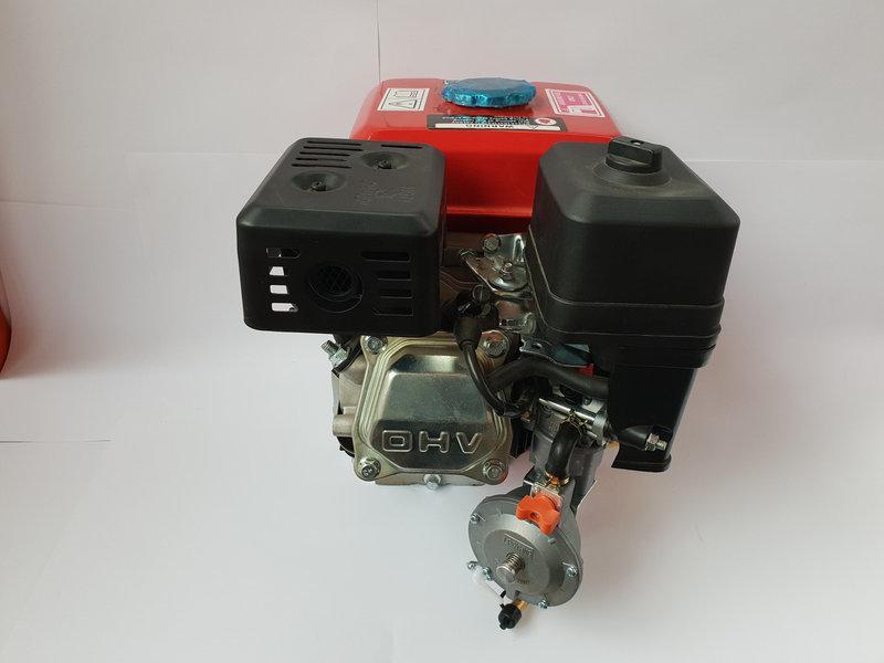 Двигатель бензиновый 7.5 л.с. вал 19 шпонка с газовым редуктором