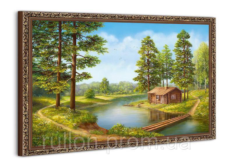 "Картина YS-Art BA581B ""Доми и переправа у воды"" 50x70"