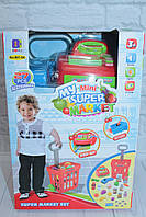 Магазин (кассовый аппарат, сканер (звук/свет), тележка, продукты, 27 деталей), в коробке