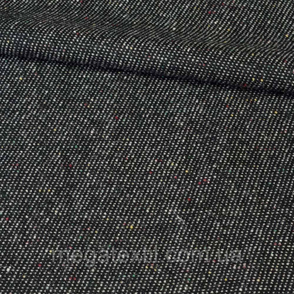 Твид черный с белыми вкраплениями, ш.150