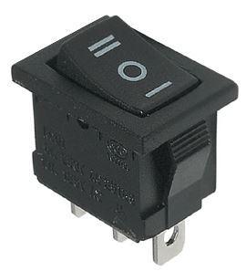 Переключатель, кнопка ВКЛ/ВЫКЛ/ВКЛ AC 250В 3А 10х15мм