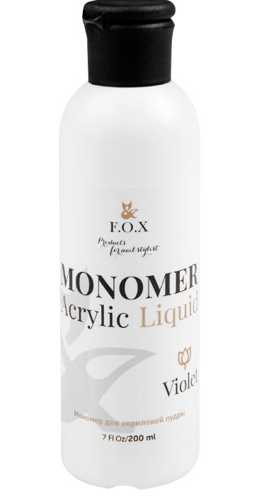 Мономер F.O.X Monomer For Acrylic Powder, Clear 200 мл