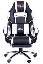 Кресло VR Racer Edge Omega черный/белый, фото 2