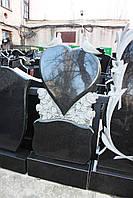 Памятник гранитный с сердцем