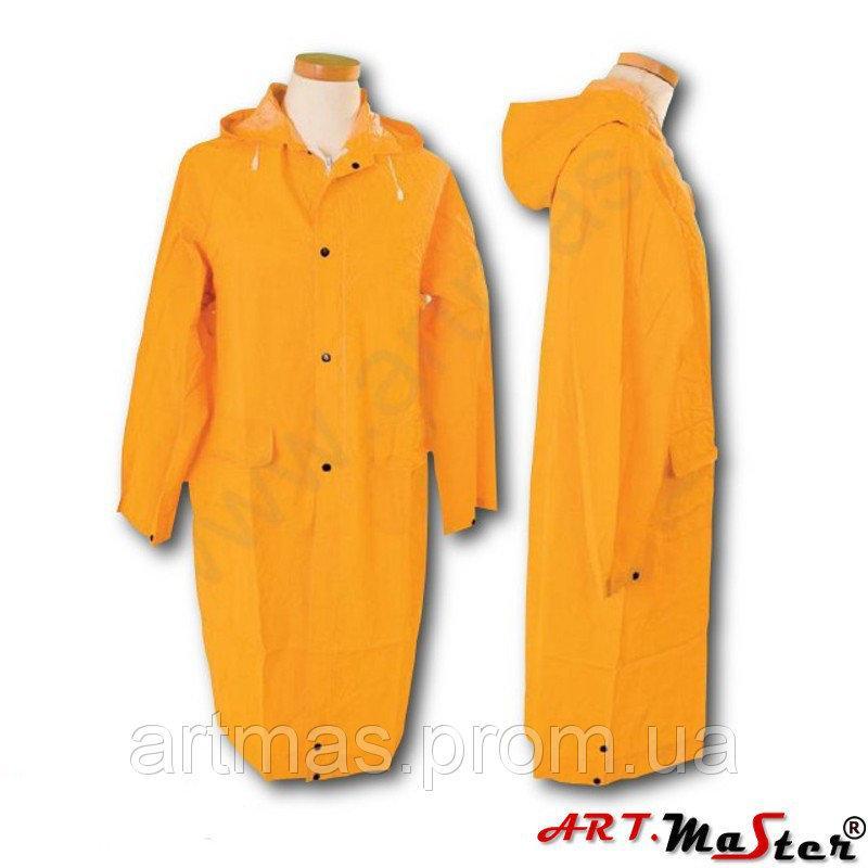 Плащ дождевик ARTMAS желтого цвета PPD PCV yellow