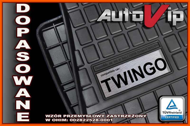 Резиновые коврики RENAULT TWINGO III 2015-  с логотипом