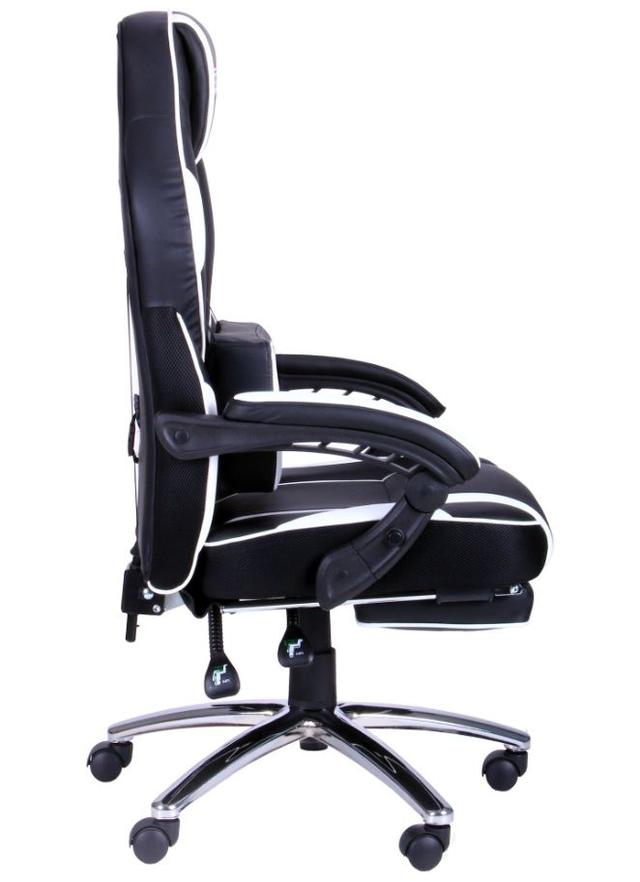 Кресло VR Racer Edge Omega черный/белый (Фото 3)