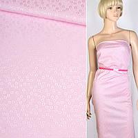 Коттон-жаккард розовый в цветы ш.150 (11810.001)