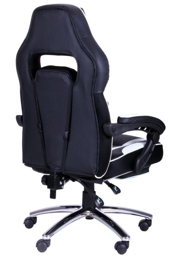 Кресло VR Racer Edge Omega черный/белый (Фото 5)
