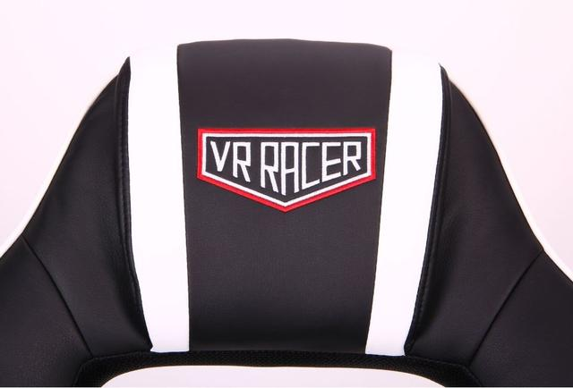 Кресло VR Racer Edge Omega черный/белый (Фото 7)