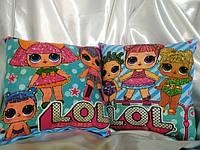 Подарки, сувениры, подушка LOL, двусторонняя на одной подушке два рисунка