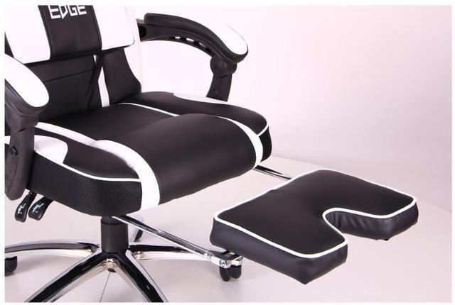 Кресло VR Racer Edge Omega черный/белый (Фото 10)