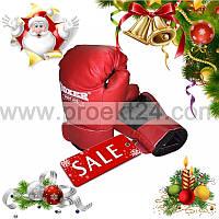 Боксерские перчатки 4 оz Кожвинил, красные