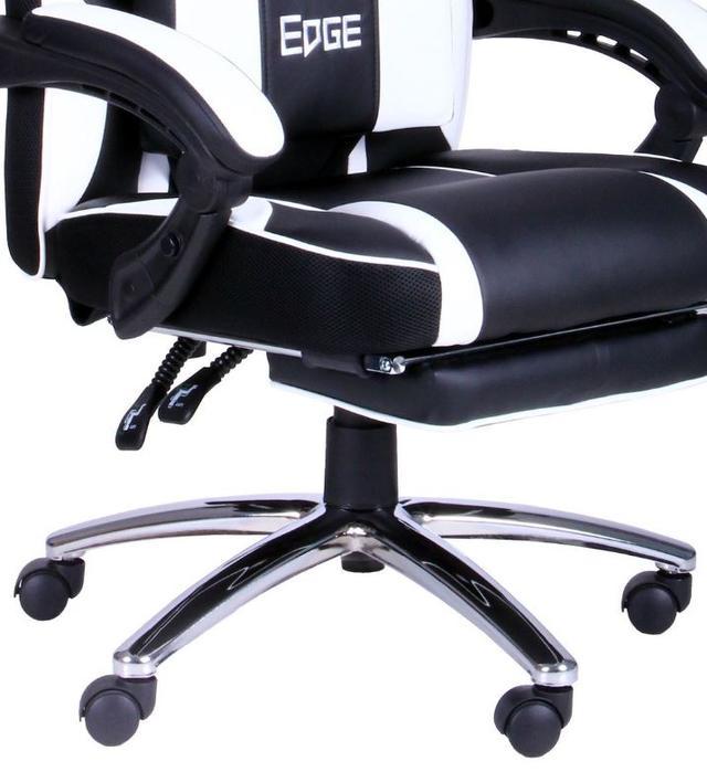 Кресло VR Racer Edge Omega черный/белый (Фото 13)