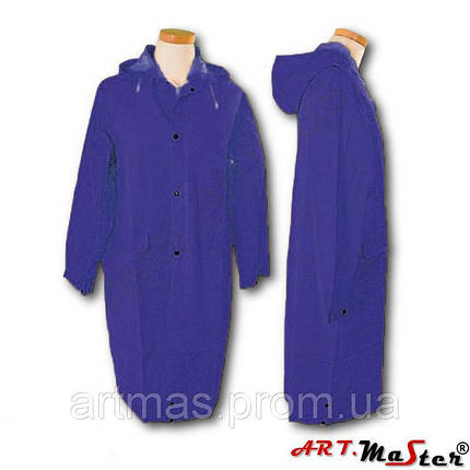 Плащ дождевик ARTMAS синего цвета PPD PCV blue, фото 2