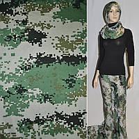Трикотаж светло серо зелено черный камуфляж ш.155