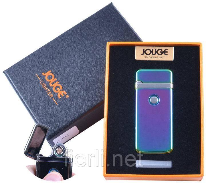 """USB зажигалка в подарочной упаковке """"Jouge"""" (Двухсторонняя спираль накаливания) №XT-4953-3"""