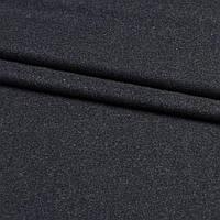 Шерсть костюмна чорна в білі ворсинки, ш.150 (11917.001)