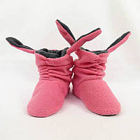Тапочки с ушками «Зайки» розово серые