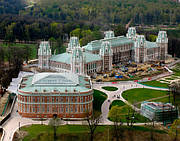 Дворец Царицино (Россия), патинированная кровельная медь Luvata Nordic Green (Финляндия)