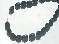 Хрустальные бусины - черный оникс,14мм имитация нитка 35см