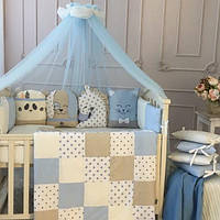 Детский постельный комплект Chudiki classic голубой(стандарт)