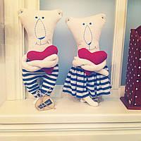 """Модная авторская мягкая игрушка """"Ты - морячка, я - моряк"""""""