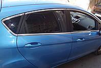 Молдинг стекла Carmos (8 шт, нерж.) - Ford Fiesta 2008-2017 гг.